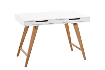 Clp table de bureau porto en mdf et bois table de bureau
