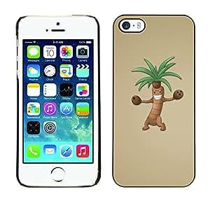 TopCaseStore / la caja del caucho duro de la cubierta de protección de la piel - Funny Dancing Tree - Apple iPhone 5 / 5S