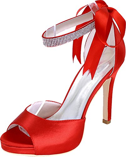 Red Rouge Femme 5 Bride EU Find 36 Cheville Nice IXO4qg