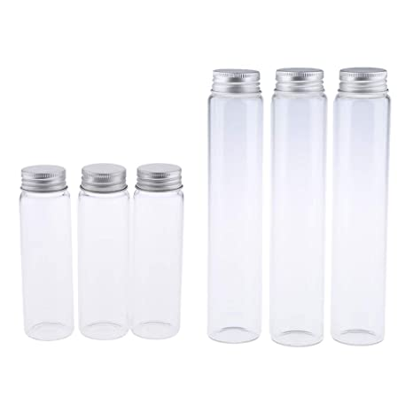 f572690156d4 Homyl 6 Pcs Empty Clear Glass Bottles Vials Cosmetic Container ...