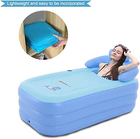 EoSaga Inflatable Bath Tub PVC Portable Tub SPA Environmental Portable Tubs for Adults Portable Soaking Tub Bathtub Bathroom SPA For an Adult With Air ...