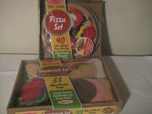 Melissa & Doug Felt Food - Sandwich Set & Pizza Set (Felt Food Sandwich Set compare prices)