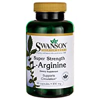 Swanson Super Strength L-Arginine, 850mg, 90 Capsules
