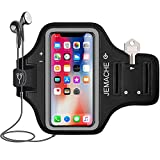iPhone X/XS Armband, JEMACHE Water Resistant Gym Running/Workouts Arm Band Case for iPhone