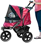 Pet Gear No-Zip AT3 Pet Stroller, Zipperless Entry, Rugged Red