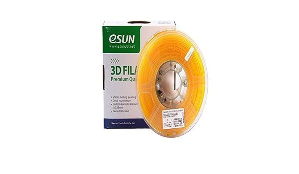 Esun 3d PETG amarillo filamento de 1,75 mm 1 kg (2.2lb), PETG 3d ...