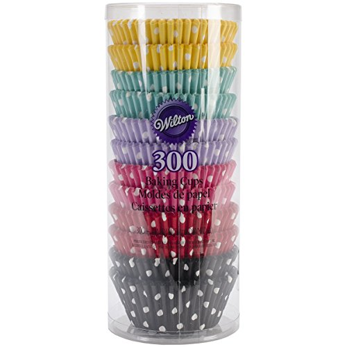 Wilton 415-2286 300 Count Polka Dots Standard Baking Cups