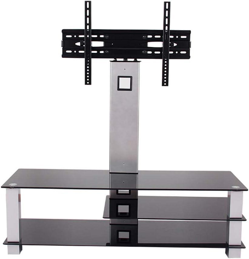 Soporte de TV Universal Mesa Top TV Pedestal Soporte de Vidrio Cantilever TV para 32 a 65 Pulgadas Plasma LCD TV Negro Tubo: Amazon.es: Hogar