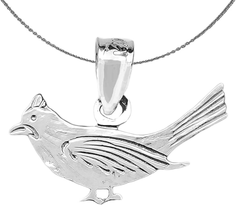 Sterling Silver 925 Bird Pendant Jewels Obsession Bird Pendant 17 mm