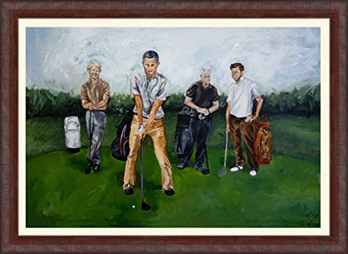 Democratic Presidents Playing Golf by fastlabels1986