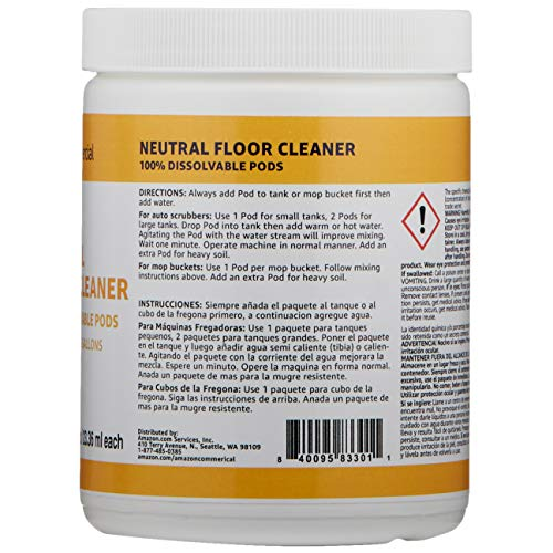 AmazonCommercial Dissolvable Neutral Duty Floor Cleaner Jar - 20 Pacs