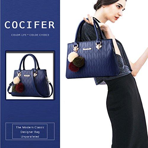 Blue Tote Handbags Bag and Purses COCIFER Satchel Womens Bags Shoulder Crossbody Ladies 8 fqHacPaWzv