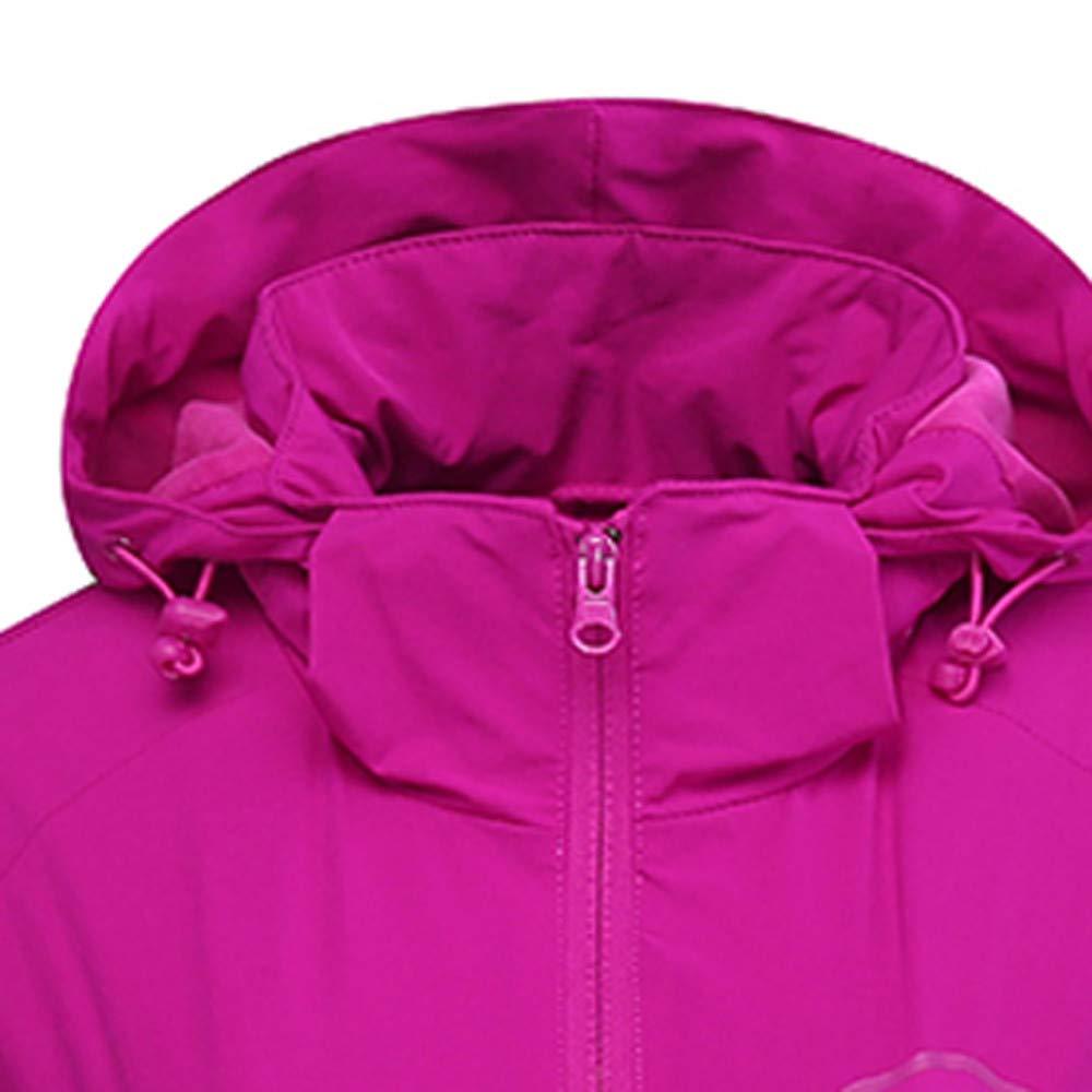 Women's Autumn Winter Soft Shell Cashmere Sport Outdoor Assault Waterproof Casual Sports Coat Hot Pink