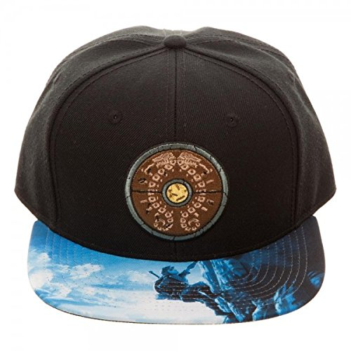 Bioworld Legend of Zelda Breath of The Wild Snapback Hat Standard Black