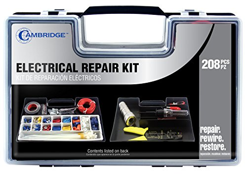 Cambridge Resources 208 pcs Electrical Repair Kit with Case (Meco Cable Ring)