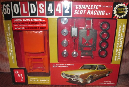 AMT 1966 Oldsmobile 442 Slot Car Race Model Kit (Vintage Slot Cars)