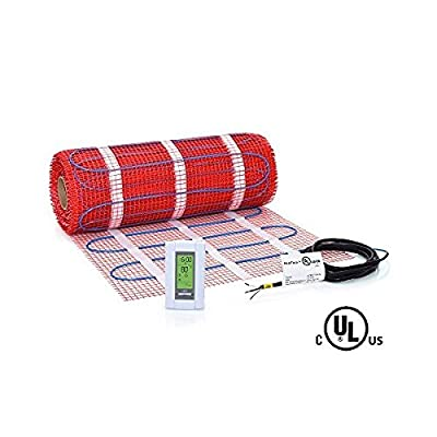 70 sqft HeatTech 120V Electric Tile Radiant Floor Heating Mat Kit