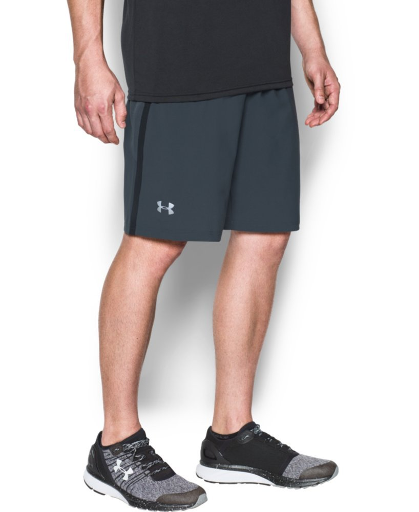 Under Armour Men's Launch 9'' Shorts, Stealth Gray/Reflective, X-Small