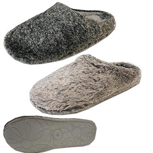 Damen Mädchen Hausschuhe Schuhe von JEMIDI Haus Schlappen Hüttenschuhe Pantoffel Pantolette Sweet Dreams Schwarz