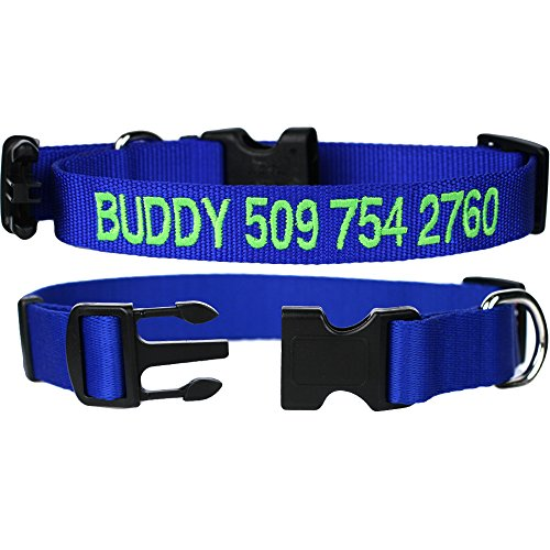Embroidered Dog Collars. Personalized Dog ID Collars. Premium Quality Custom Made. (Custom Made Collars compare prices)