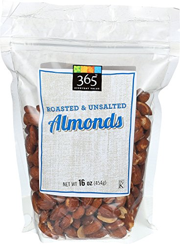 365 Everyday Value Almonds Roasted & Unsalted, 16 Ounce