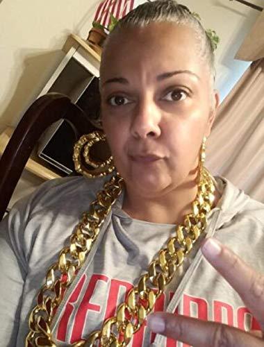 "JIL Big Chunky Hip Hop Chain Necklace,32"",36"" 3"