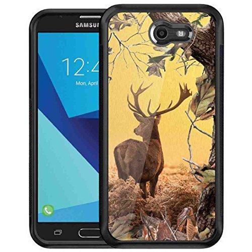 Samsung Galaxy J7 V Camouflage Camo Case, BAYKE Slim Fit Shock Absorption TPU Bumper Drop Protection Case for Samsung Galaxy J7 V/J7 Perx/J7 Sky Pro/J7 Prime/Galaxy Halo/J7 2017 - (Glitter Playboy Bunny)