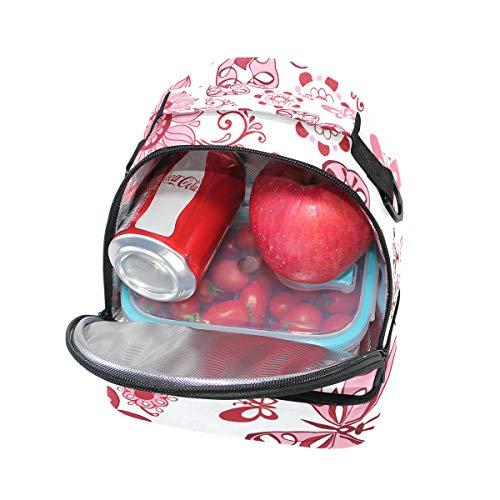 Alinlo Bolsa diseño correa para mariposas ajustable el hombro térmica el para de almuerzo con rrdFnCqxw