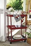 Vintage Red Serving Cart - Great for Bar or Kitchen Storage