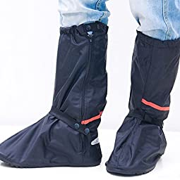 Whose Lemon Thicken Women Men High Boots Waterproof Rain Snow Shoes Cover Reusable Slip-resistant Shoes Covers for Mortocycle Garden Hiking Camping XL