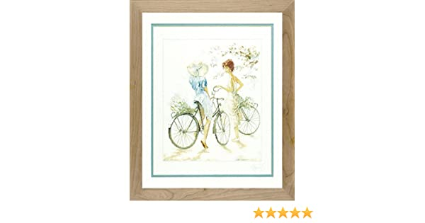 New Counted Cross Stitch Embroidery Kit PN-0007949 Lanarte Girls On Bicycle