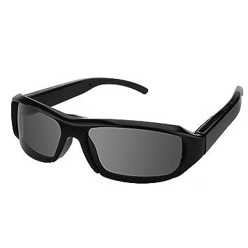 60e93840ef Cámara Espía, FlylinktechHD 1080P 30fps Gafas Cámara Espía Oculto Cámara  Gafas de sol con cámara DVR Hidden Glasses (850B Grey): Amazon.es:  Informática