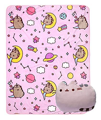 Pusheen Constellations Throw Blanket Reversible Plush Cat Pillow