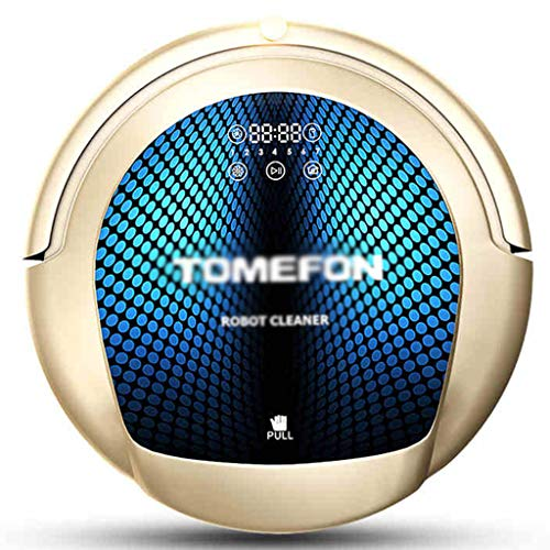 Vacuum Cleaner Intelligent Sweeping Robot Household Automatic Wiping The Floor to The Integrated Vacuum Cleaner Cleaning Robot Vacuums (Color : Gold, Size : 35cm|14inch)