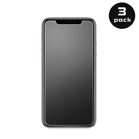 free shipping a7d67 69933 Amazon.com: iPhone X Matte Tempered Glass Screen Protector Anti ...