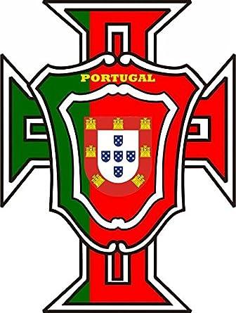 125mm Decals x 2 Vinyl Bumper Stickers PORTUGAL Portuguese Flaming Fireball Fire 5