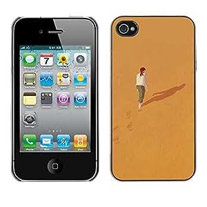 [Neutron-Star] Snap-on Series Teléfono Carcasa Funda Case Caso para iPhone 4 / 4S [Significado Profundo Sola Chica Redhead]