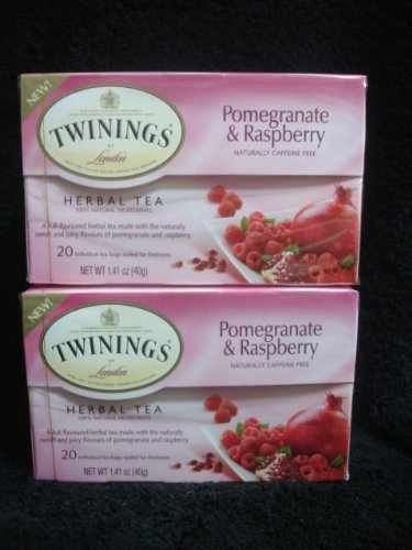 (Twinings Herbal Pomegranate and Raspberry Tea, 40 Count)