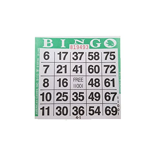 American Games 1on Green Bingo Paper (500 -