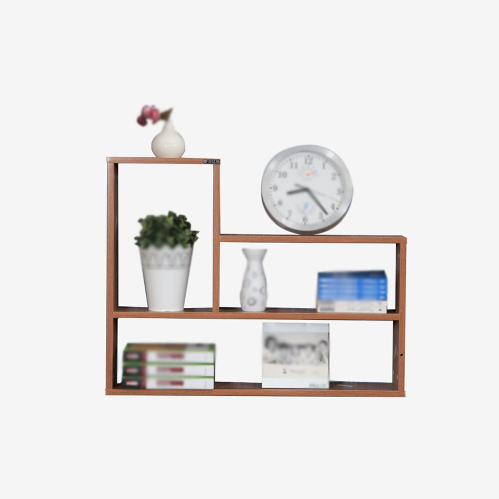 Wall shelf / TV wall shelf / Living room Wall shelf / Living room wall-mounted storage rack / Kitchen wall shelf / Bathroom shelf / Two color options /(79.414.862.8cm) ( Color : Walnut color )