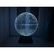 Colorful 3D stereo vision 3D desk lamp night light gift fighter , 2