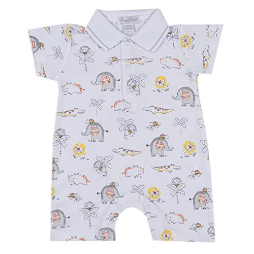 Kissy Kissy Baby-Boys Infant Jungle Jamboree Print Short Playsuit With Collar