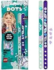 LEGO 41909 DOTS Zeemeermin Armbanden Set, Sieraden Maken, DIY Kindersieraden, Knutselen voor Kinderen vanaf 6 Jaar