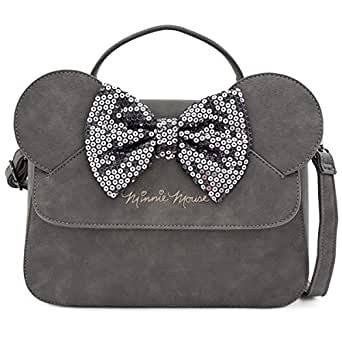 Loungefly x Minnie Mouse Sequin Bow Crossbody Bag (One Size, Grey)