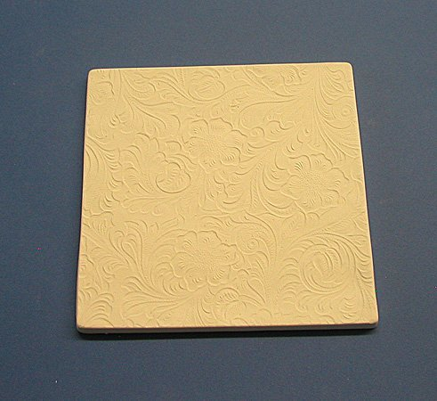 7 Inch Square Tooled Leather Textured Tile Mold for Glass (Glass Fusing Textured Tile Mold)