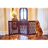 Primetime Petz Contemporary Designer Free Standing Wooden Pet Gate 35""
