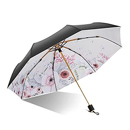 Paraguas plegable automatico Mujer niño Hombre an- Tres Paraguas de plástico Negro Plegable Ultra Light