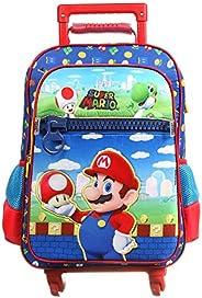 Mala Escolar G com 4 Rodinhas, Super Mario Bros, DMW Bags, 11743, Colorida