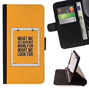 For Sony Xperia Z1 Compact / Z1 Mini (Not Z1) D5503 Case , Cartel Significado Texto Amarillo- la tarjeta de Crédito Slots PU Funda de cuero Monedero caso cubierta de piel