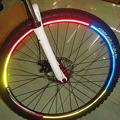 Fluorescent MTB Wheel Rim Reflective Sticker Bike Bicycle Cycling Security Decal